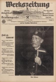 Werkszeitung für die Belegschaft der Beuthengrube, 1938, Jg. 5, Nr. 4