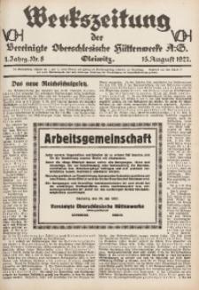 Werkszeitung der Vereinigte Oberschlesische Hüttenwerke A. G., Gleiwitz, 1927, Jg. 1, Nr. 8