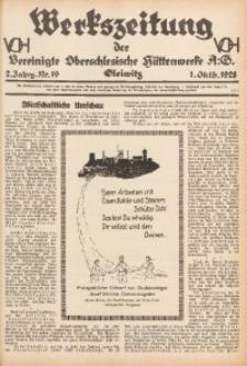 Werkszeitung der Vereinigte Oberschlesische Hüttenwerke A. G., Gleiwitz, 1928, Jg. 2, Nr. 19