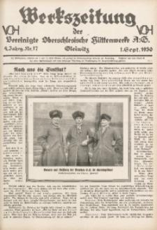 Werkszeitung der Vereinigte Oberschlesische Hüttenwerke A. G., Gleiwitz, 1930, Jg. 4, Nr. 17