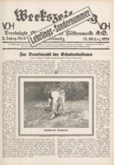 Werkszeitung der Vereinigte Oberschlesische Hüttenwerke A. G., Gleiwitz, 1931, Jg. 5, Nr. 6