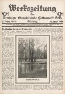Werkszeitung der Vereinigte Oberschlesische Hüttenwerke A. G., Gleiwitz, 1931, Jg. 5, Nr. 10