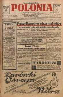 Polonia, 1927, R. 4, nr 75