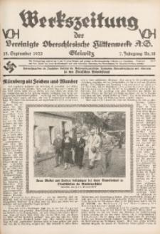 Werkszeitung der Vereinigte Oberschlesische Hüttenwerke A. G., Gleiwitz, 1933, Jg. 7, Nr. 18