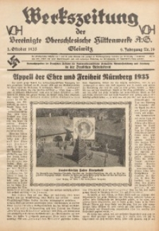 Werkszeitung der Vereinigte Oberschlesische Hüttenwerke A. G., Gleiwitz, 1935, Jg. 9, Nr. 19