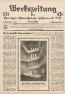 Werkszeitung der Vereinigte Oberschlesische Hüttenwerke A. G., Gleiwitz, 1935, Jg. 9, Nr. 23