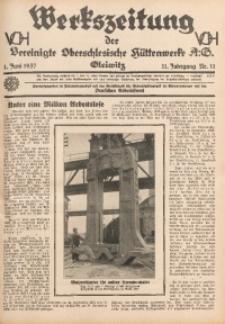 Werkszeitung der Vereinigte Oberschlesische Hüttenwerke A. G., Gleiwitz, 1937, Jg. 11, Nr. 11
