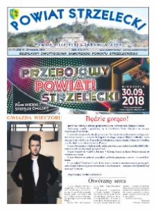 Powiat Strzelecki : bezpłatny dwutygodnik samorządu powiatu strzeleckiego 2018, nr 17 (355).