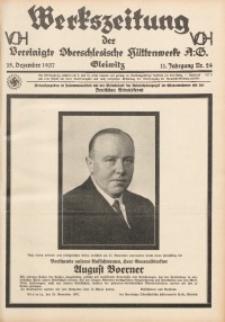 Werkszeitung der Vereinigte Oberschlesische Hüttenwerke A. G., Gleiwitz, 1937, Jg. 11, Nr. 24