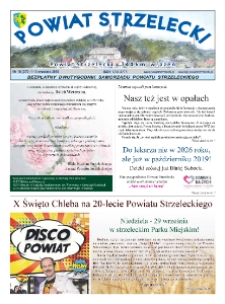 Powiat Strzelecki : bezpłatny dwutygodnik samorządu powiatu strzeleckiego 2019, nr 16 (379).