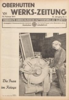 Oberhütten-Werks-Zeitung, 1941, Jg. 15, Nr. 4