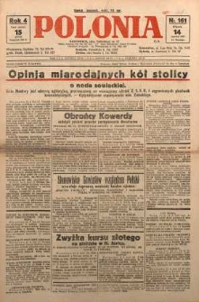 Polonia, 1927, R. 4, nr 161