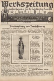 Werkszeitung der Preussengrube und der Schachtanlage Sosnitza, 1936, Jg. 3, Nr. 12