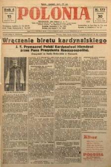 Polonia, 1927, R. 4, nr 177