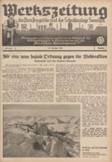 Werkszeitung der Preussengrube und der Schachtanlage Sosnitza, 1940, Jg. 7, Nr. 2