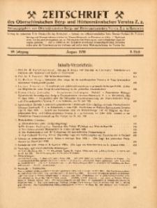 Zeitschrift des Oberschlesischen Berg- und Hüttenmännischen Vereins Z.z., 1930, Jg. 69, Heft 8