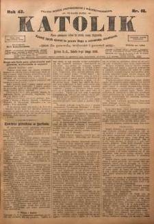 Katolik, 1909, R. 42, nr 16