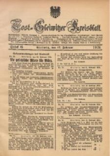 Tost-Gleiwitzer Kreisblatt, 1924, St. 6