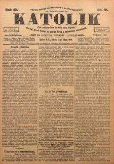Katolik, 1909, R. 42, nr 19
