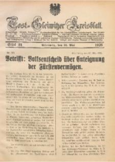 Tost-Gleiwitzer Kreisblatt, 1926, St. 21