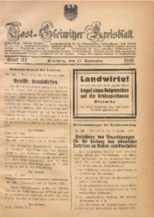 Tost-Gleiwitzer Kreisblatt, 1926, St. 37