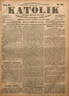Katolik, 1909, R. 42, nr 30