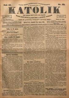 Katolik, 1909, R. 42, nr 33