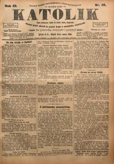 Katolik, 1909, R. 42, nr 38
