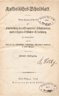 Katholisches Schulblatt. Jg. 10 (1864)
