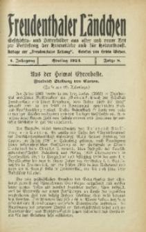 Freudenthaler Ländchen, 1924, Jg. 4, Folge 8