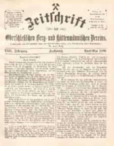 Zeitschrift des Oberschlesischen Berg- und Hüttenmännischen Vereins, 1890, Jg. 29, April-Mai
