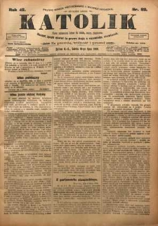 Katolik, 1909, R. 42, nr 82