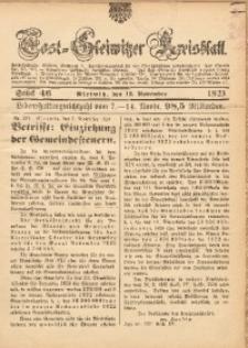 Tost-Gleiwitzer Kreisblatt, 1923, St. 46