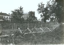 Brzeżany. Zasieki przed miastem, około 1916 r.
