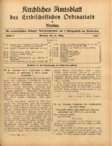 Kirchliches Amtsblatt des Erzbischöflichen Ordinariats in Breslau, 1932, Stück 4