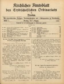 Kirchliches Amtsblatt des Erzbischöflichen Ordinariats in Breslau, 1933, Stück 11