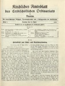 Kirchliches Amtsblatt des Erzbischöflichen Ordinariats in Breslau, 1935, Stück 7