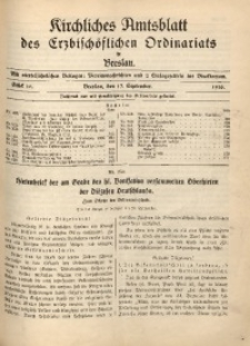 Kirchliches Amtsblatt des Erzbischöflichen Ordinariats in Breslau, 1936, Stück 16