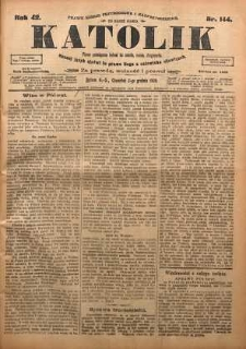 Katolik, 1909, R. 42, nr 144