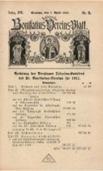 Schlesisches Bonifatius-Vereins-Blatt, 1918, Jg. 59, No. 4