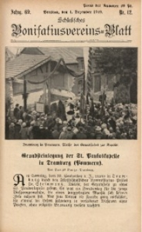 Schlesisches Bonifatiusvereins-Blatt, 1928, Jg. 69, Nr. 12