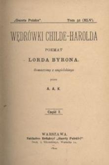 Wędrówki Childe-Harolda. Poemat. Część 2.