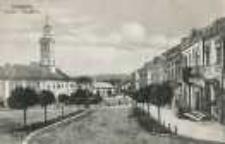 Brzeżany. Widok na rynek, po 1915 r.