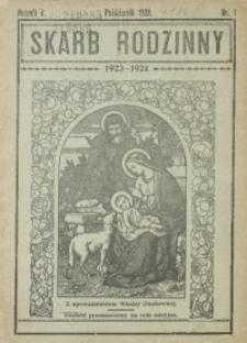 Skarb Rodzinny, 1923/1924, R. 5, nr 1