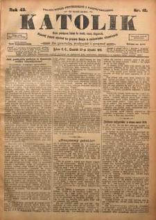 Katolik, 1910, R. 43, nr 12
