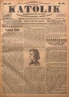 Katolik, 1910, R. 43, nr 23