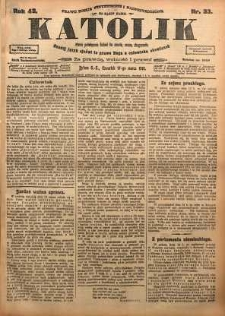 Katolik, 1910, R. 43, nr 33