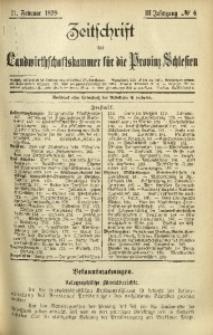 Zeitschrift der Landwirthschaftskammer für die Provinz Schlesien, 1899, Jg. 3, No. 6