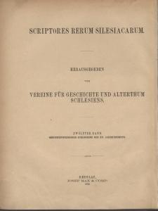 Scriptores rerum Silesiacarum. Bd. 12, Geschichtschreiber Schlesiens des XV Jahrhunderts