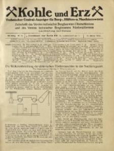 Kohle und Erz, 1925, Jg. 22, Nr. 3